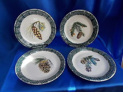 Thomson Pottery PINECONE EVERGREEN SALAD PLATES LOT OF 8 : pinecone dinnerware - pezcame.com