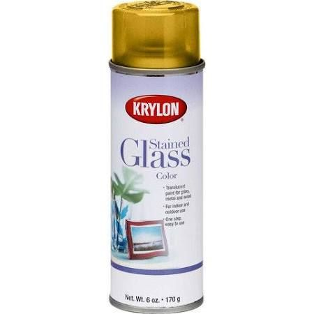 Krylon Stained Glass Paint.Krylon Yellow Stained Glass Glass Aerosol Spray Paint 6 Oz