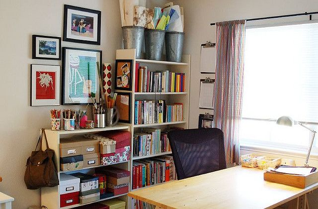 Reorganized Craft Room by helenjane, via Flickr
