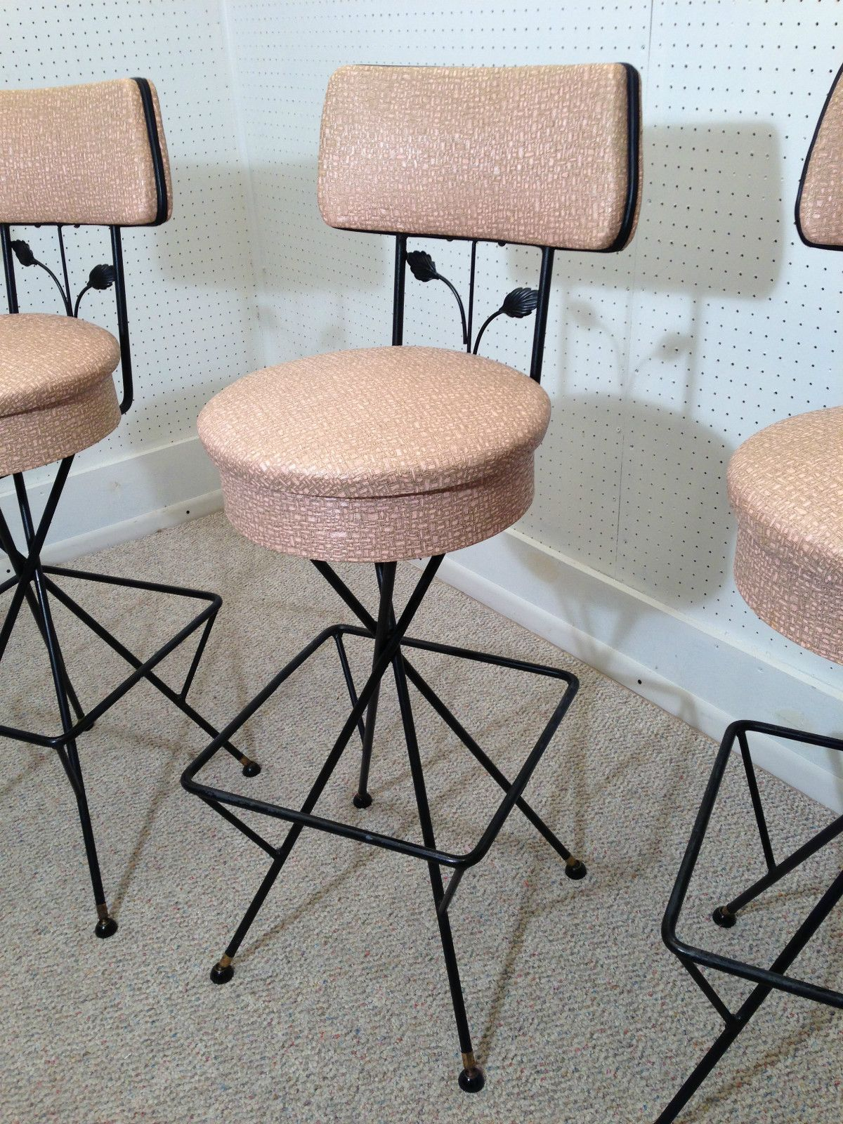 rainbow dream bar stool rainbow dream fantasy stool barstool home decor stools Retro Home Decor. 50s Atomic Ranch Retro Bar Stools - Pink Mid Century  Modern Weinberg Eames