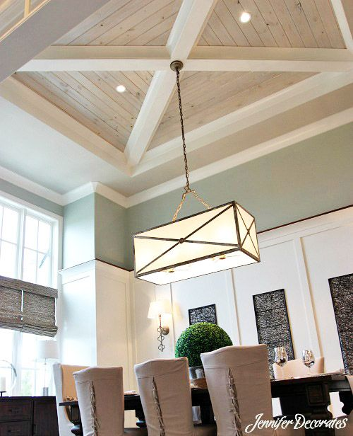 Wood ceiling ideas from diy home Shiplap tray ceiling
