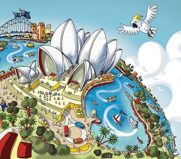 Hartwig Braun - Sydney Opera House map detail
