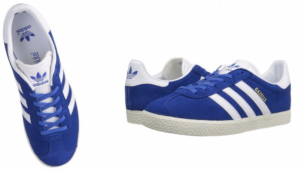 watch e8a3e fd9bb ADIDAS ORIGINALS Kids GAZELLE Blue  Running White  Metallic Gold BB2501  adidas BB2501