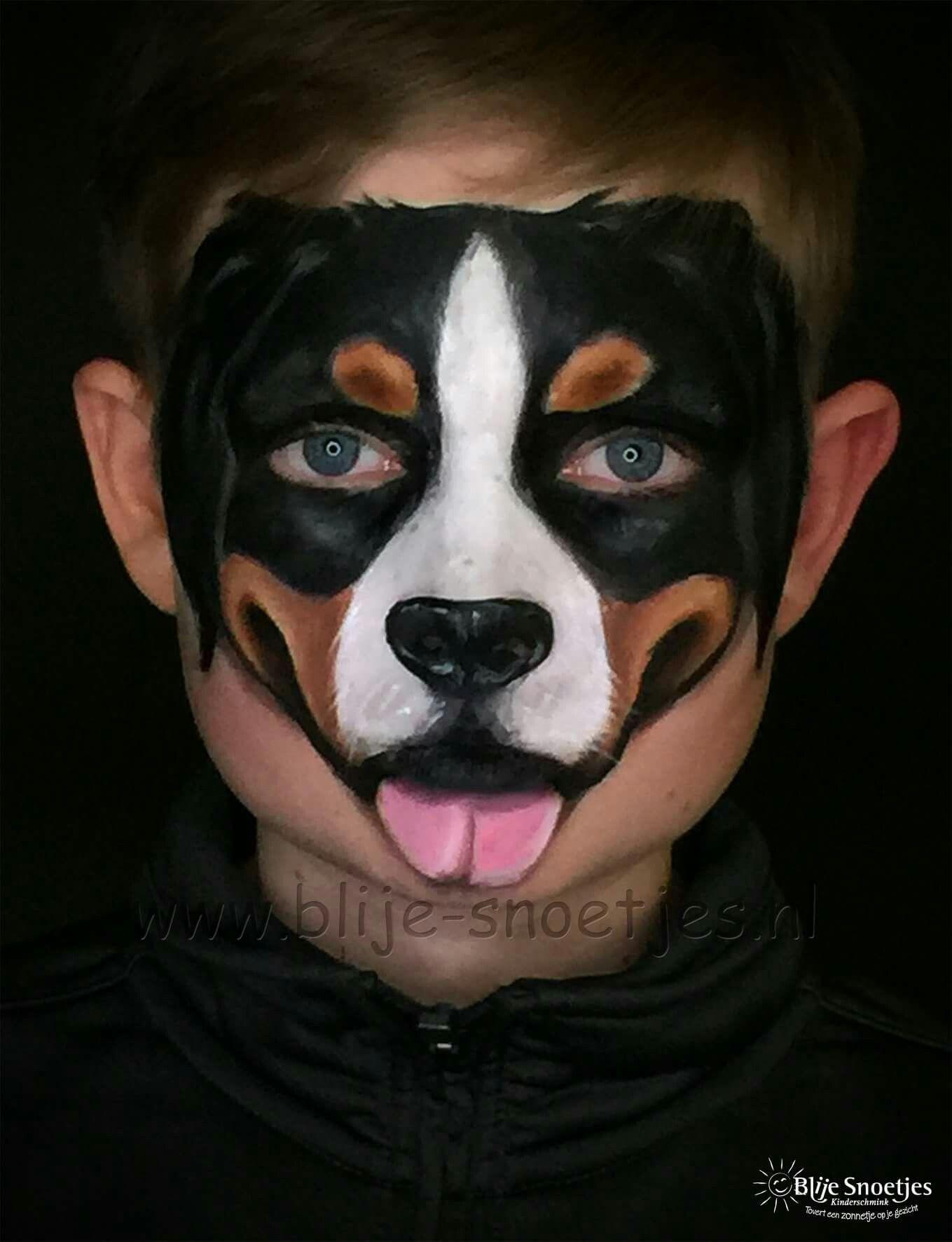 Pin Von Eva Auf Face Paint Dogs Einfache Gesichtsmalerei Schminkgesichter Schminken