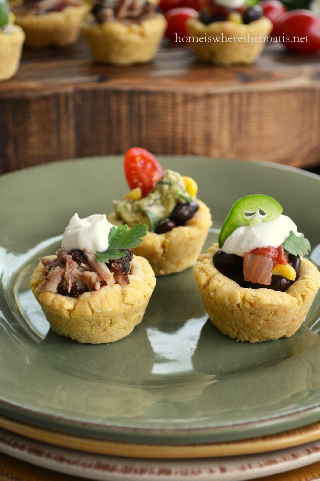 Cheesy Masa Cups for Cinco de Mayo | homeiswheretheboatis.net #cincodemayo #fiesta #appetizer
