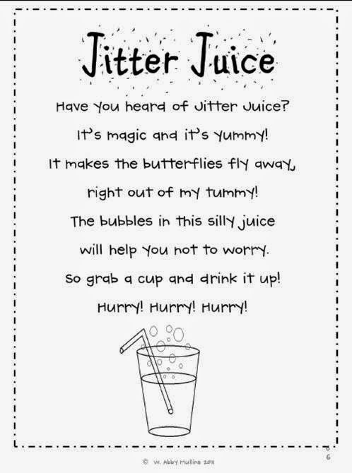It is a graphic of Jitter Glitter Poem Printable for sparkle