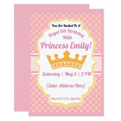 Princess Party Birthday Invitations Princess party, Party gifts - invitation to a party