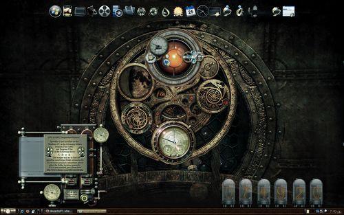 Screenshots Steampunk desktop by adespotos Customize