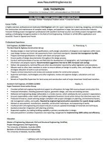 CivilEngineerResumeSample  Resume Samples