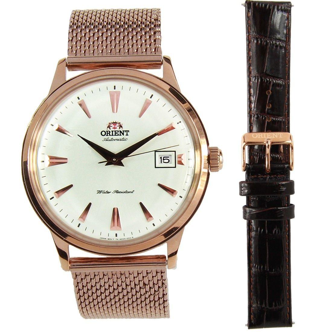 Orient Bambino Watch w/ extra strap FAC00002W0 22AJLMESHR