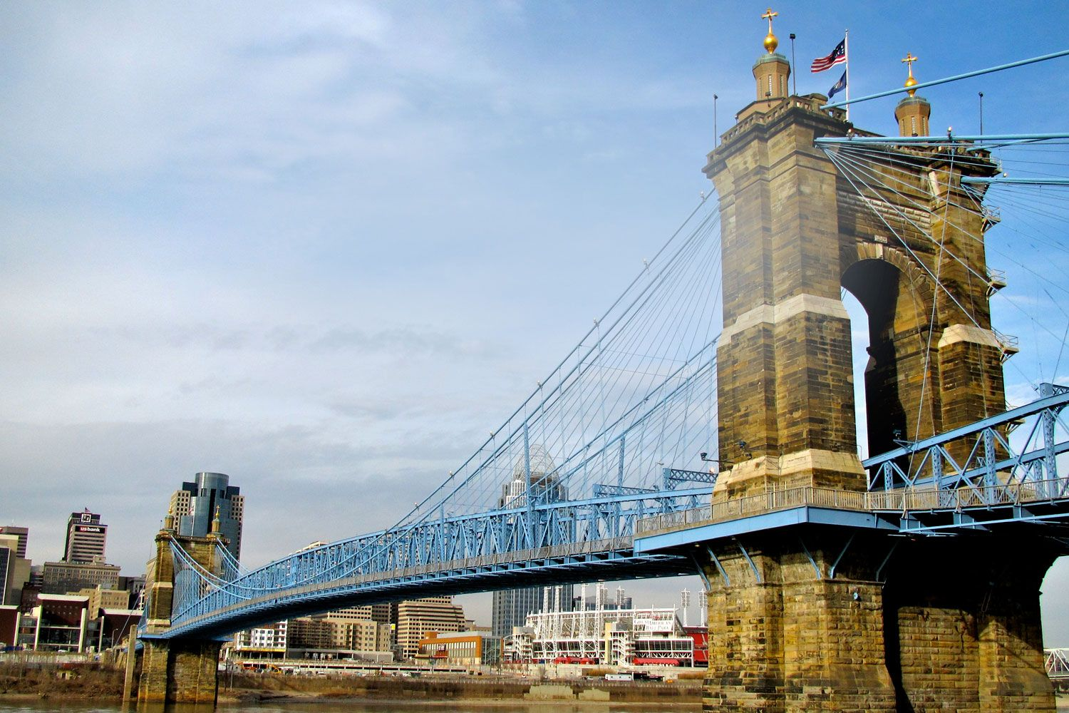 The iconic suspension bridge paid for by chnks founder