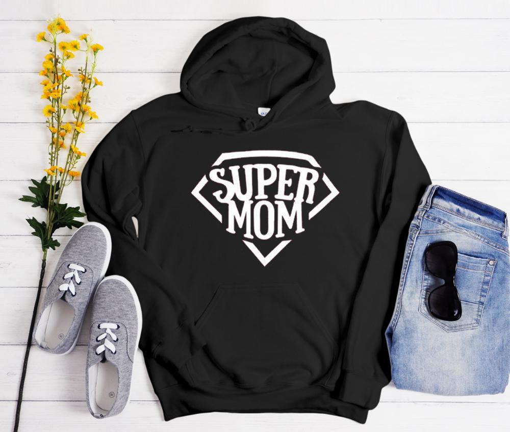 Super Mom Cool Trending Hoodie Hoodies Super Mom Fun Sweatshirts [ 847 x 1000 Pixel ]
