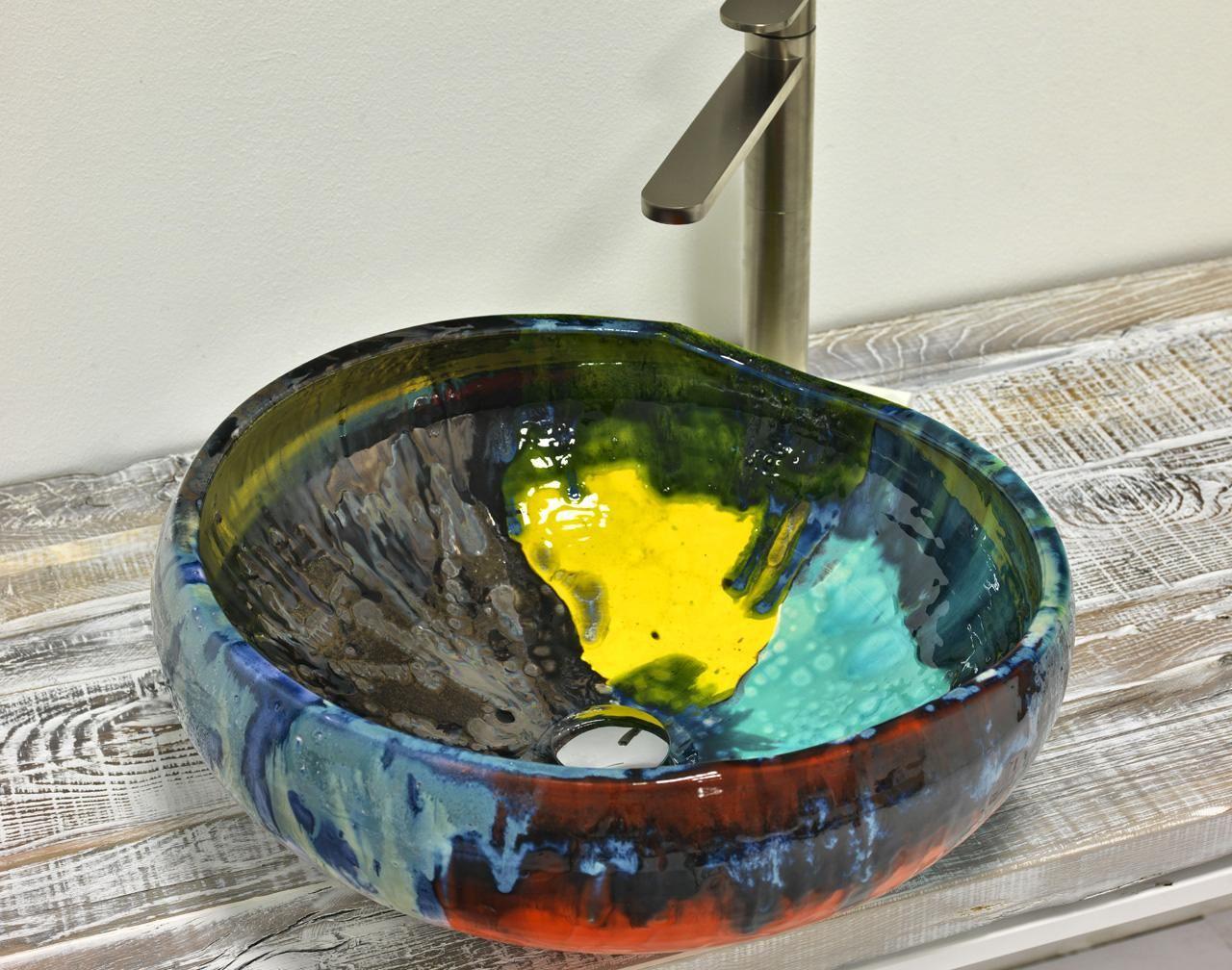 Domiziani ceramica inox lava design deruta pg for Ceramiche da bagno