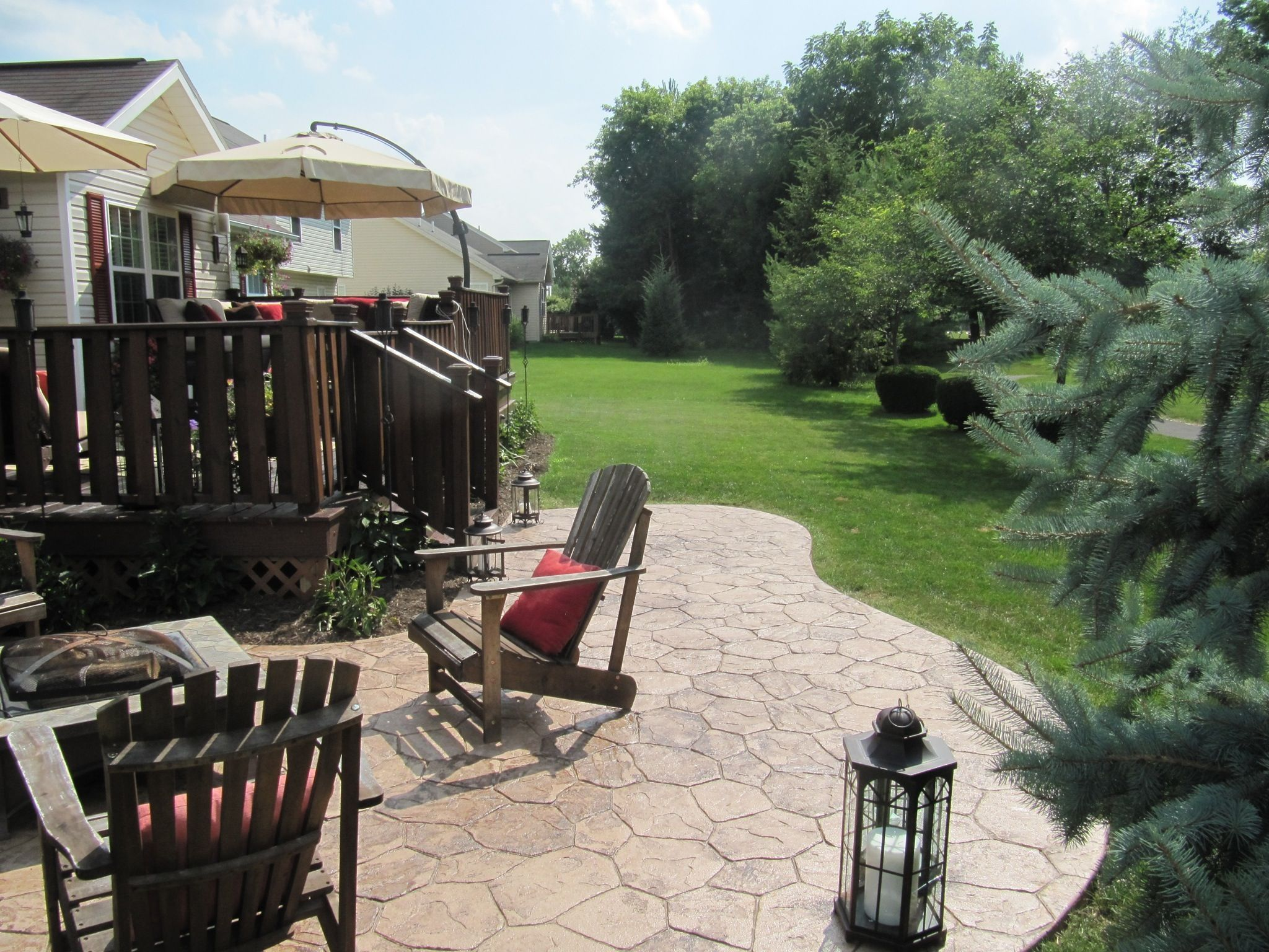 Adding a lower patio area off your deck is a beautiful way to