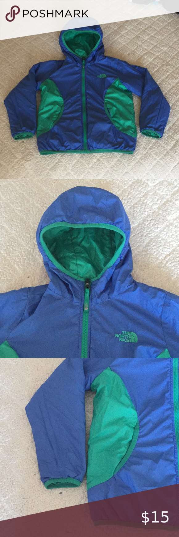 North Face Double Side Ys Girls Jacket Girls Jacket The North Face Jackets [ 1740 x 580 Pixel ]