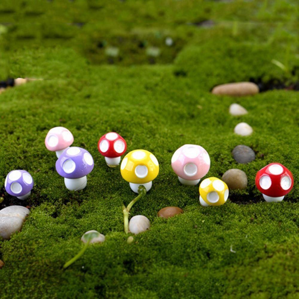 10pcs Garden Ornament Mini Decorations Mushroom | Garden ornament ...