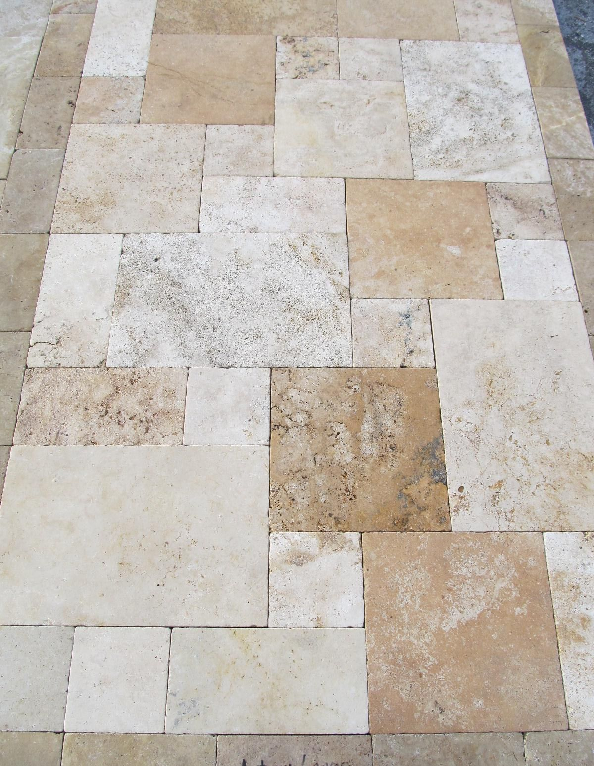 country classic travertine pavers-home and garden design ideas