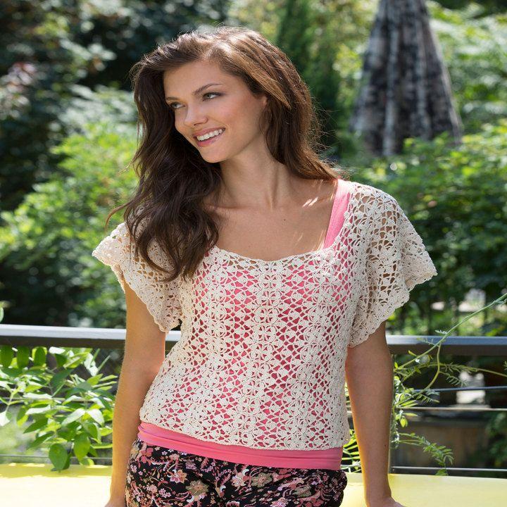 Lace Essence Top Free Pattern Crochet Pinterest Free Pattern