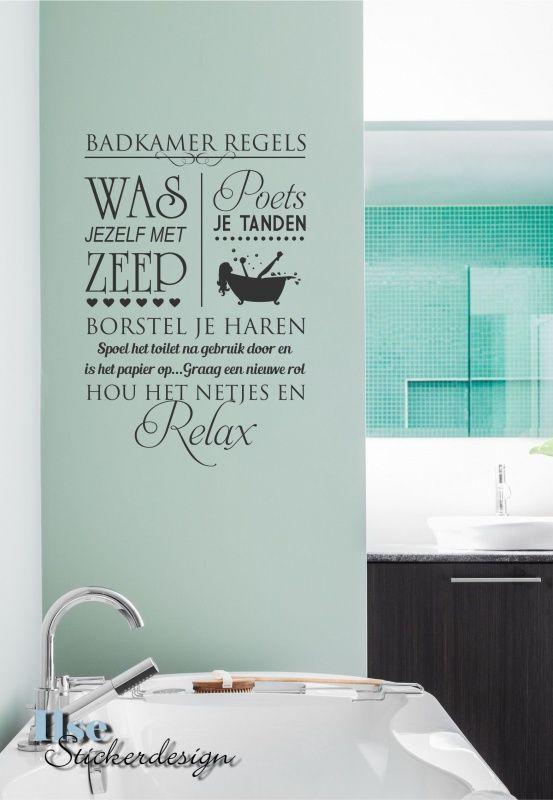 Muursticker Badkamer Regels 2 | Ideeën voor het huis | Pinterest ...