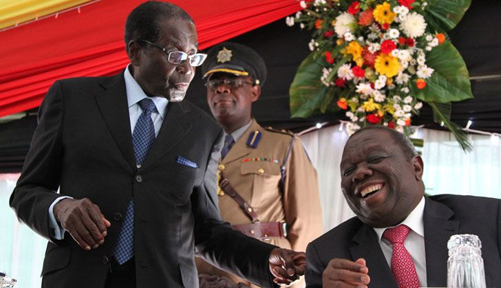 """""""We want to give title deeds so that you access loans and be productive."""" Tsvangirai to war vets"""