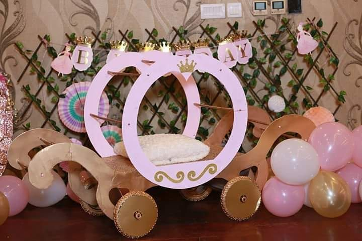 Princesss birthday is incomplete without a Carriage A perfect handmade Carriage for a princess .......#birthday