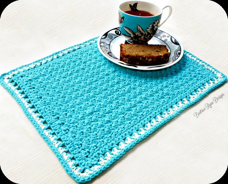 Tea Time Placemat… Free Crochet Pattern!!   Deko herzen, Häkelschuhe ...