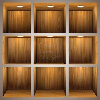 3d wooden shelves Stock Photo - 12967173