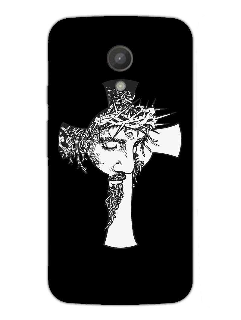 Holy Jesus - Artistic Pattern - Designer Mobile Phone Case Cover for Moto E