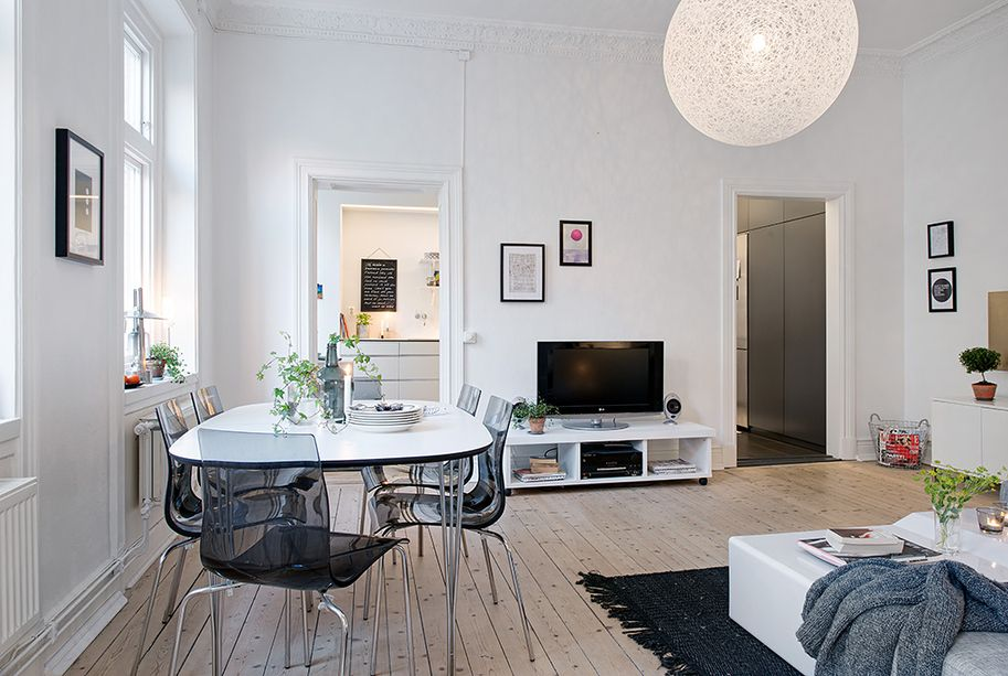 small apartment dining room ideas. House Tours, Dining Room Apartment Ideas Chairs TV Pendant Lamp Design: Modern Swedish Small N