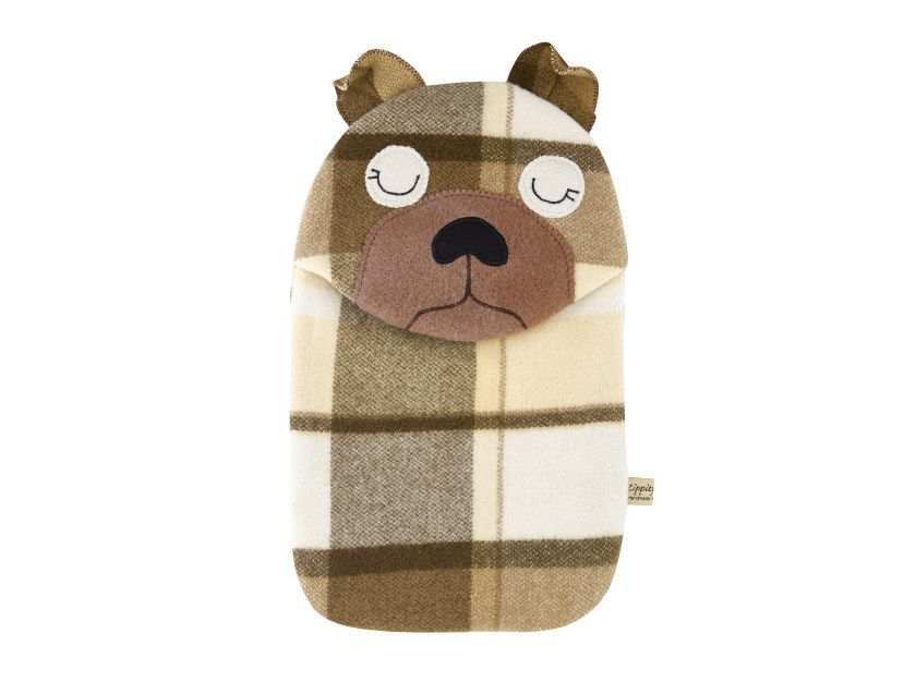 Pug puppy hottie cover hot water bottle cover pug puppy