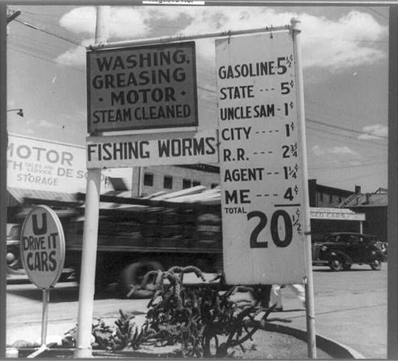 1955 Service Station Gas Prices Gas Station Prices Gas Prices Old Gas Stations