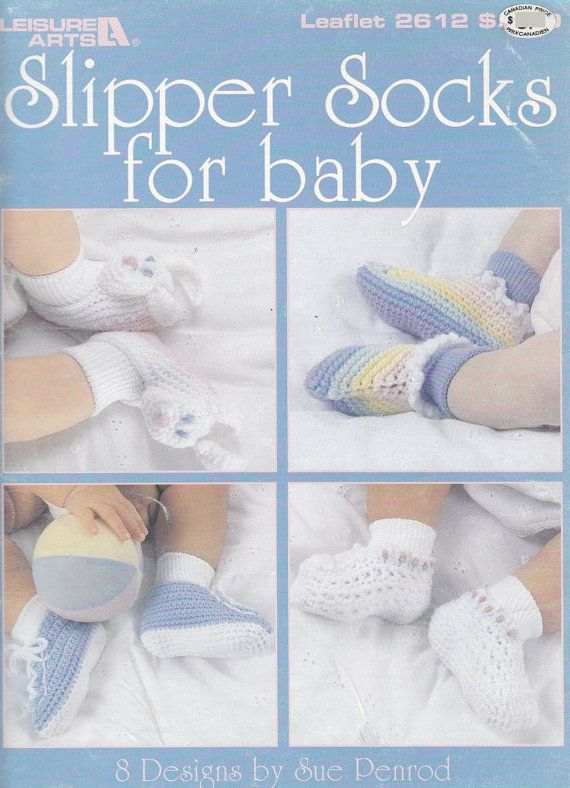 Baby Slipper Socks Crochet Patterns | Bebés | Pinterest | Bebé ...