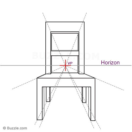 Draw Third Dimension For Chair Drawing Furniture Perspective Drawing Lessons Perspective Drawing