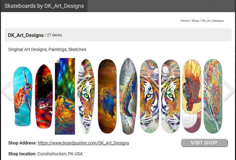 Skateboard Shops By Independent Artists Skateboard Design Skateboard Artist