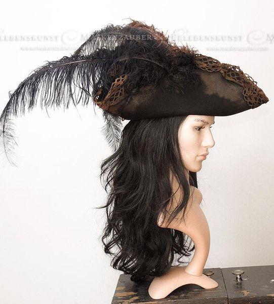 Hüte - Piratenhut-Captains Hat - ein Designerstück von Maskenzauber ...