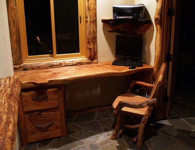 Hand Made Desk picture of wood rustic furniture |  country-desk-country