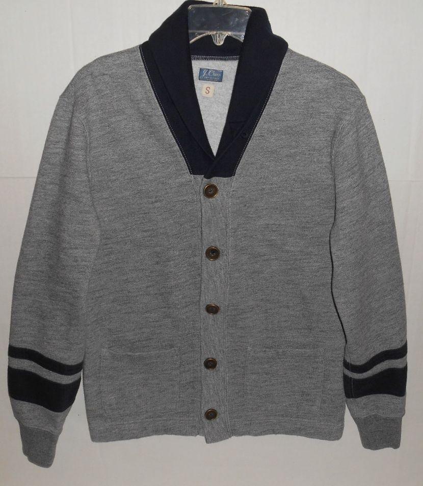 Details about J Crew Vintage Fleece Campus Varsity Cardigan Men's ...