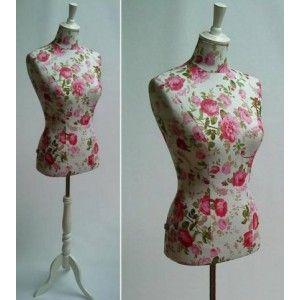 Pink floral dress form