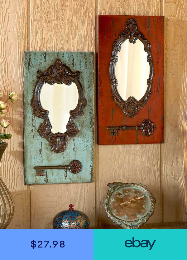UNIQUE ANTIQUE VINTAGE LOOK ORNATE FRAME WALL MIRROR WITH