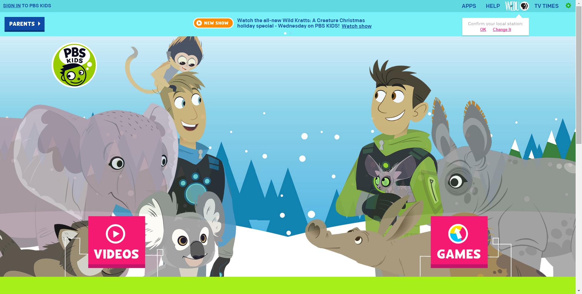 PBS KIDS Pbs kids, Kids shows, Educational games