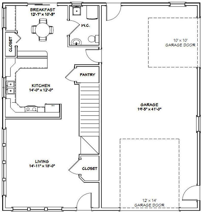 40x42 House 3 Bedroom 2 Bath 1619 Sq Ft Pdf Floor Etsy In 2020 Floor Plans Garage House Plans Generator Shed,Free Home Plumbing Design Software