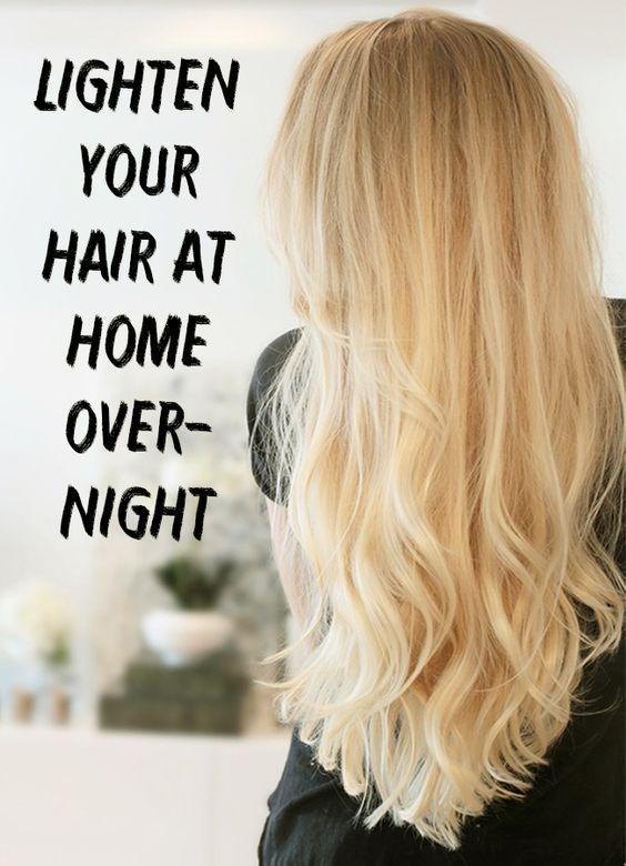 Lighten Your Hair At Home Overnight How To Lighten Hair Lighten