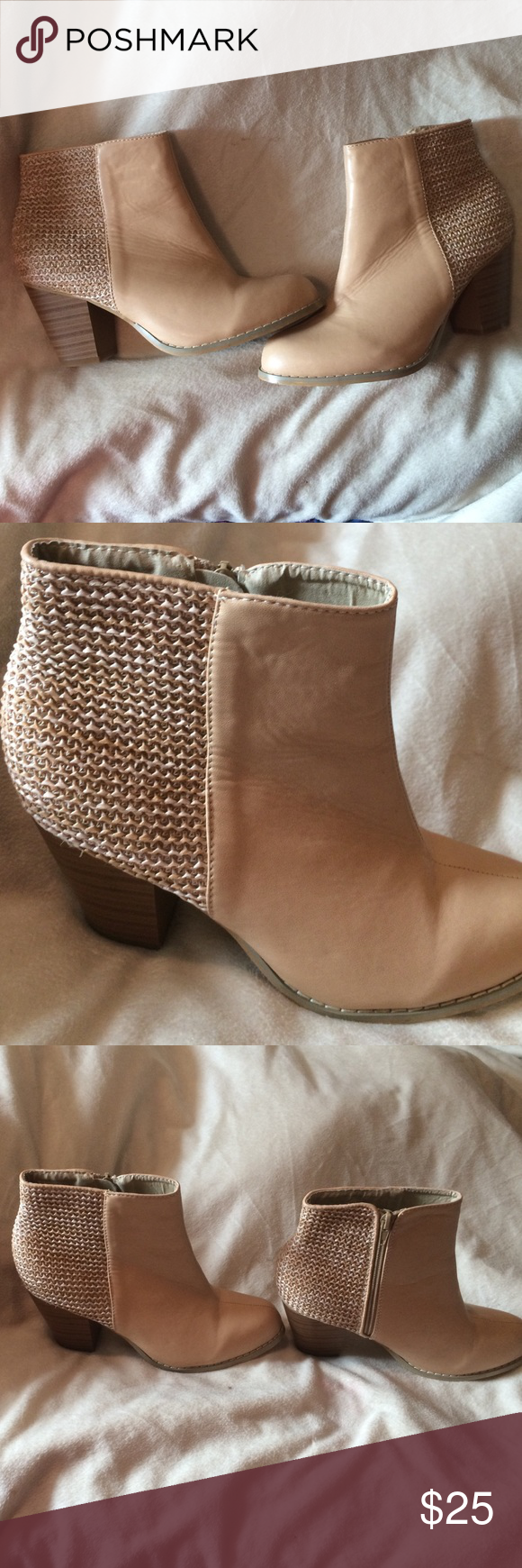 Tan Booties Size 8. Barley worn. Shoes Ankle Boots & Booties