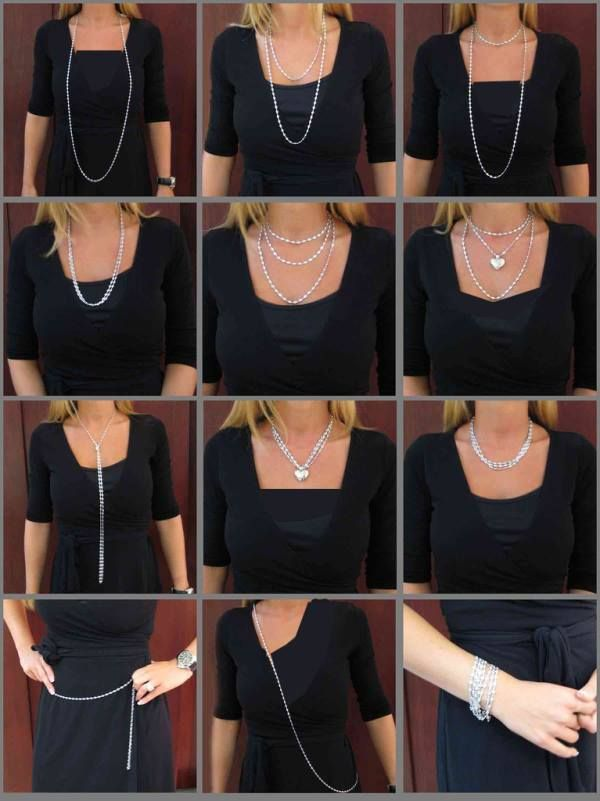 Try these new ways to wear your regular long chain necklace !!!