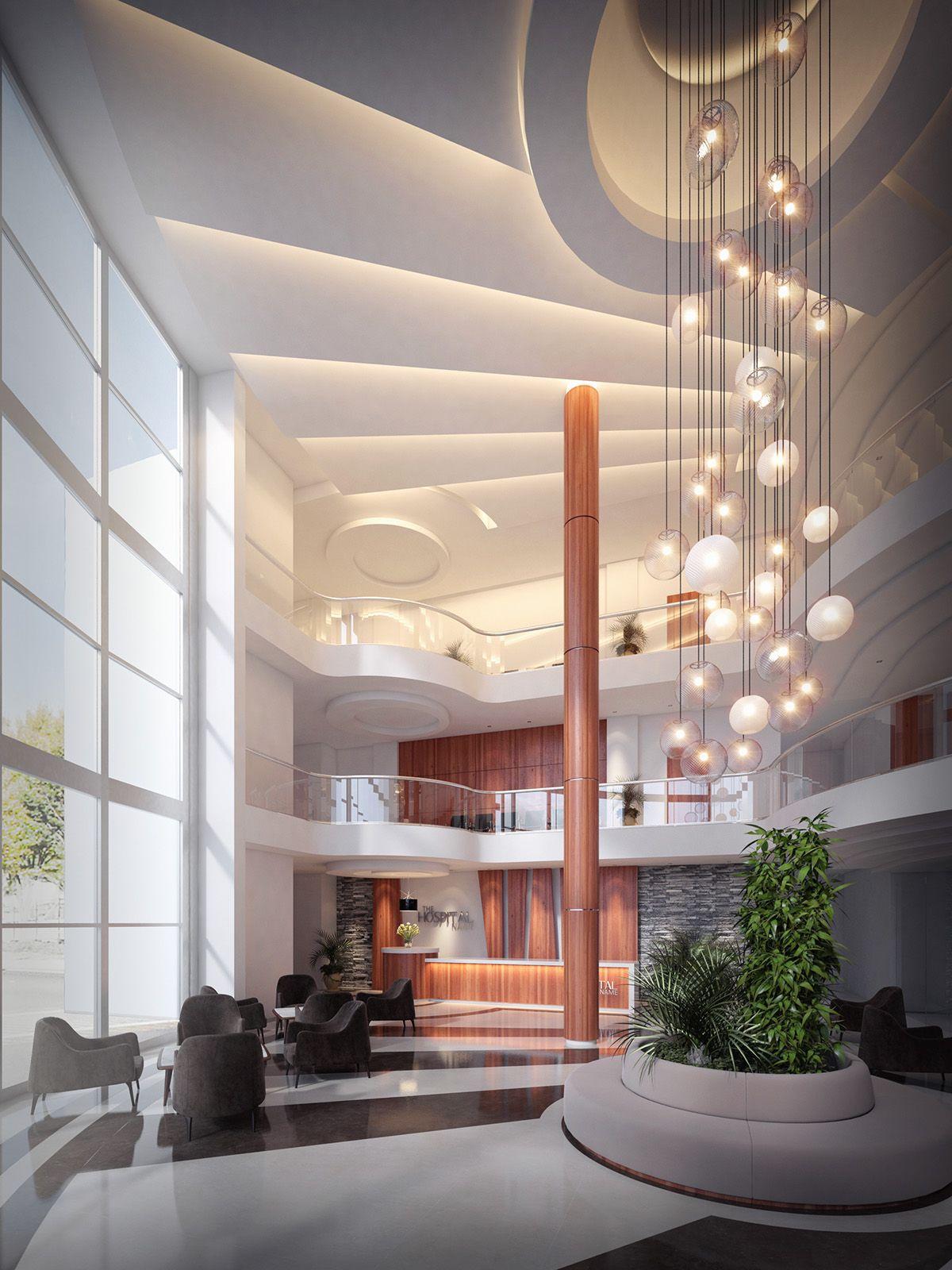 Hospital Entrance lobby design | lobi, 2018 | Pinterest ...