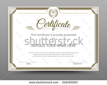 Certificate Diploma Of Completion Certificate Of Achievement