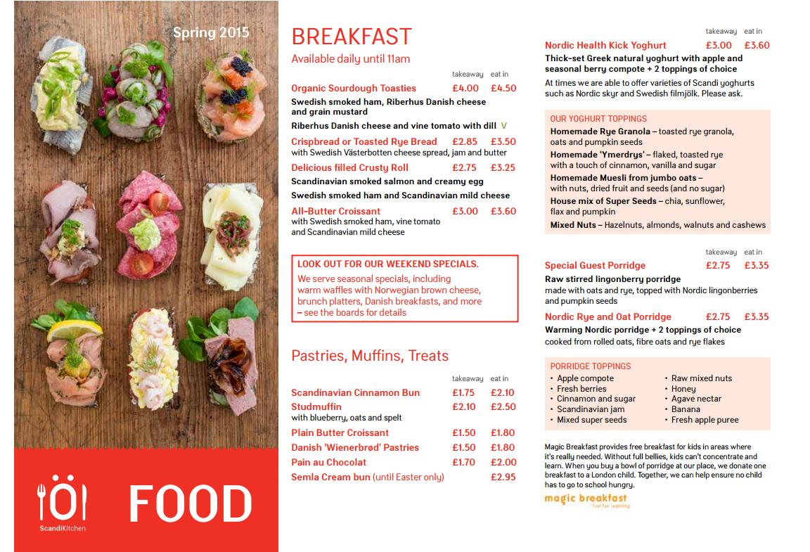 Cafe Menu Scandikitchen Cafe Menu Cafe Scandinavian Food