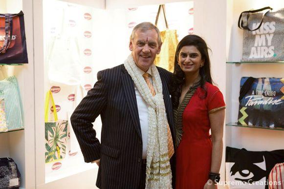 Supreme Creations CEO Smruti Sriram with John Miln, CEO of UK