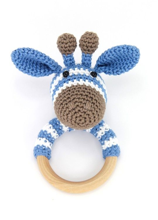 Anleitung Rassel Giraffe Gijs #crochetgiraffepattern