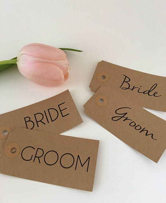 Bride and Groom Place Setting Bridesmaid Name Tag Table   wedding ...